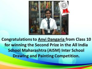 Winner Of All India School Maharashtra (AISM) Inter School Drawing and Painting Competition 2017