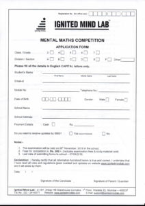 Classes III to VII – Ignited Mind Lab – Mental Maths Competition
