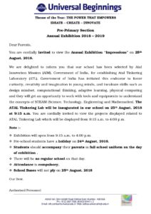 """Pre-Primary Section – Annual Exhibition – """"Impressions"""""""